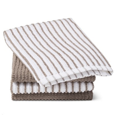 Gray Stripe Bar Mop Kitchen Towel (4 Pk)- Room Essentials™