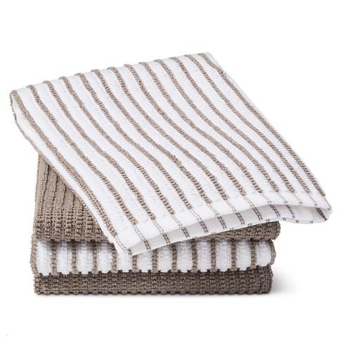 Gray Stripe Bar Mop Kitchen Towel (4 Pk) - Room Essentials™