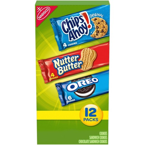 Nabisco Snack Pack Variety Cookies Mix With Oreo, Chips Ahoy! & Nutter Butter - 23.4oz/12ct - image 1 of 4