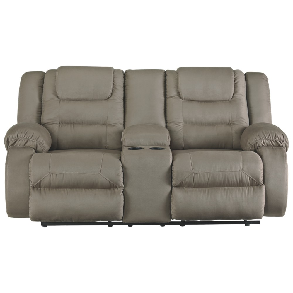 Segburg Double Reclining Loveseat with Console Gray - Signature Design by Ashley