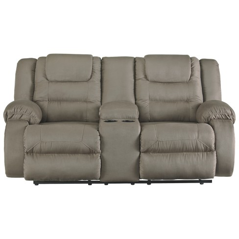 Segburg Double Reclining Loveseat With Console Gray Signature