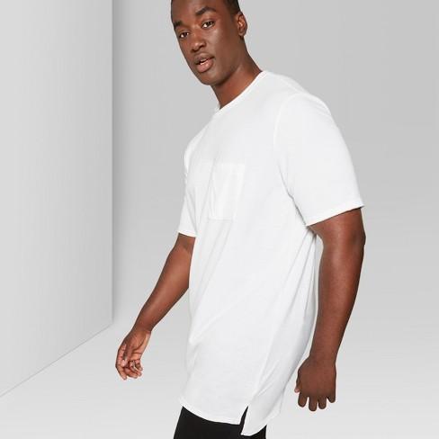 09eed7453642 Men s Big   Tall Short Sleeve Long Line T-Shirt - Original Use™ White