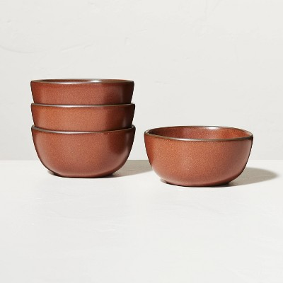 4pk Stoneware Exposed Rim Mini Bowl Set Cinnamon - Hearth & Hand™ with Magnolia