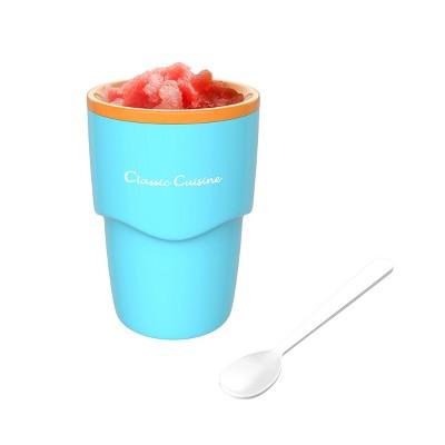Hastings Home Single Serving Frozen Slushy Maker for Homemade Slushes, Milkshakes, Smoothies, Cocktails, and More - Blue