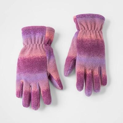 Girls' Ombre Fleece Gloves - Cat & Jack™ Purple 8-16