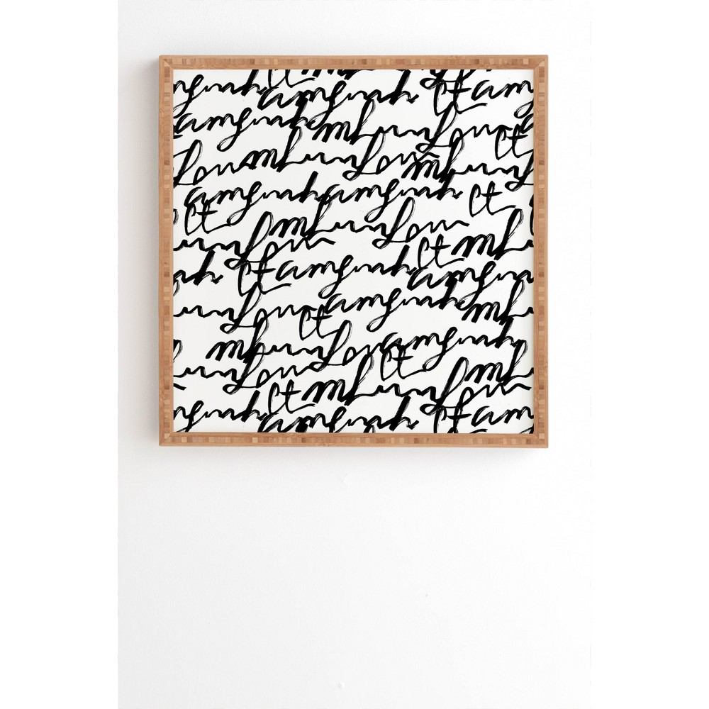20 34 X 20 34 Gabriela Fuente Lost Words Framed Wall Art Deny Designs