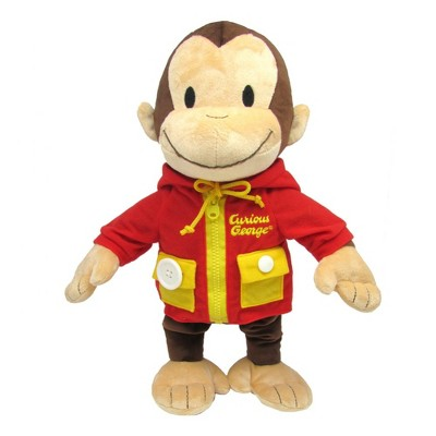 Kids Preferred Learn to Dress Curious George Plush