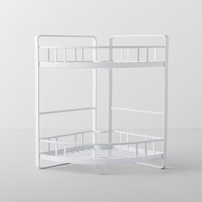 Kitchen Cabinet Organizer Corner Shelf 2 Tier White - Made By Design™