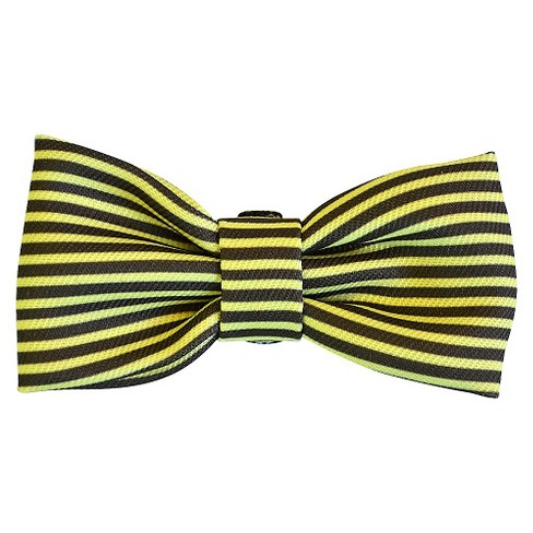 Bow Tie Dog Collar Accessory - Gold/Gray Stripe - Boots & Barkley™ - image 1 of 1