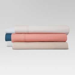 300 Thread Count Organic Cotton Solid Sheet Set - Threshold™
