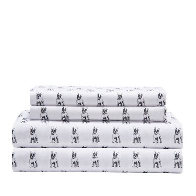 King Printed Microfiber Sheet Set Bulldog - Elite Home Products