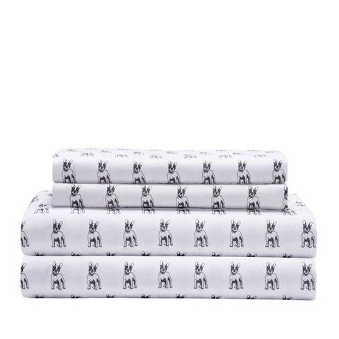 Queen Printed Microfiber Sheet Set - Elite Home Products - image 1 of 1
