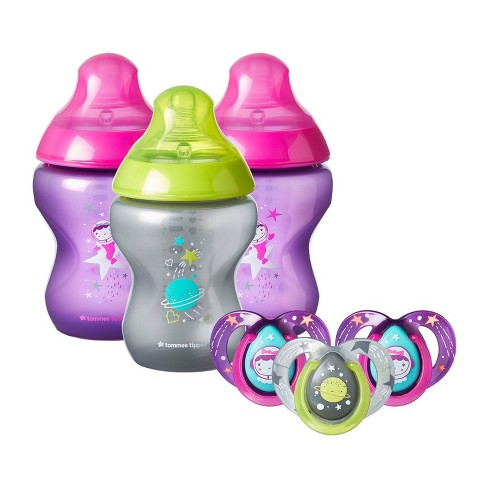 Tommee Tippee Closer to Nature Boldly Go Baby Bottle and Pacifier Set - image 1 of 4