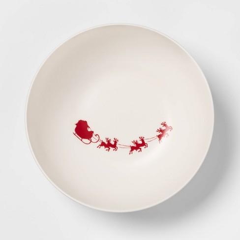 101oz Melamine Santa's Sleigh Serving Bowl White - Threshold™ - image 1 of 1