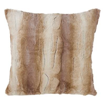 Animal Print Faux Fur Throw Pillow - Saro Lifestyle