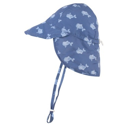 Hudson Baby Infant and Toddler Boy Sun Protection Hat, Blue Whale
