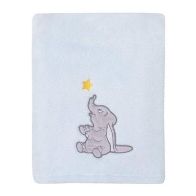 Disney Dumbo Shine Bright Little Star Super Soft Baby Blanket with Applique - Aqua/Gray/Yellow