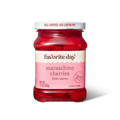 Maraschino Cherries with Stems - 12oz - Favorite Day™