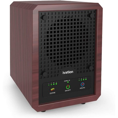 Ivation 5-in-1 Air Purifier & Ozone Generator for up to 3,500 Sq/Ft, Ionizer & Deodorizer- Included 2 UV Lights, Photo-Catalytic & Carbon Filters