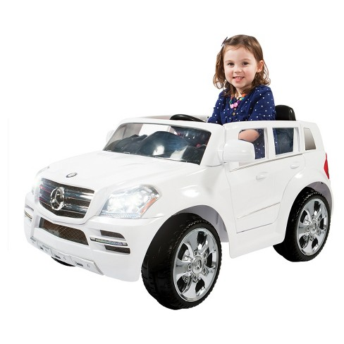 Rollplay Kids' Ride On 6V Mercedes Benz GL450 SUV - White - image 1 of 4