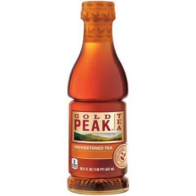 Gold Peak Unsweetened Iced Tea - 18.5 fl oz Bottle