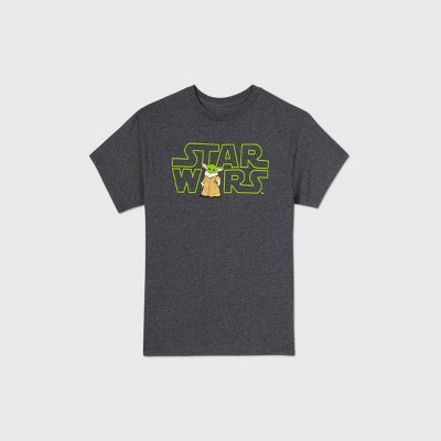 Boys' Star Wars Baby Yoda Short Sleeve Graphic T-Shirt - Charcoal Heather