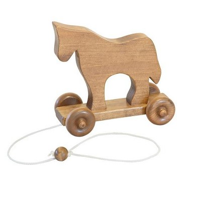 Remley Kids Wooden Pull Toy Horse