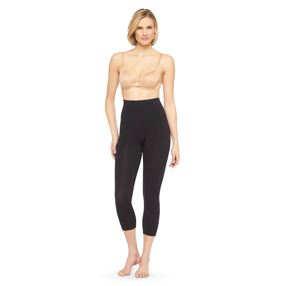 Image of Assets By Sara Blakely Women's Spanx Capri Leggings - Love Black 1X, Size: 1XL