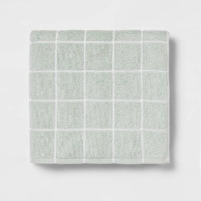 Everyday Grid Bath Towel Mint - Room Essentials™