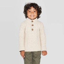 Toddler Boys' Shawl Collar Pullover Sweater - Cat & Jack™ Off-White