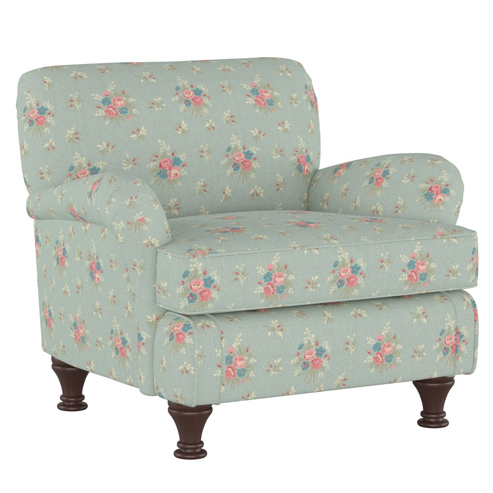 Kids Roll Arm Chair Anastasia Blue - Simply Shabby Chic