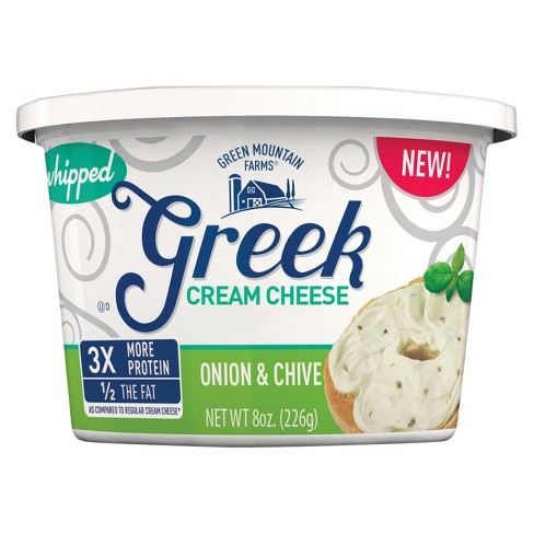 Green Mountain Farms Onion & Chive Greek Cream Cheese - 8oz - image 1 of 1