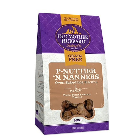 Old Mother Hubbard - Grain Free Mini P-Nuttier 'N Nanners - Dog Treats - 16oz - image 1 of 1