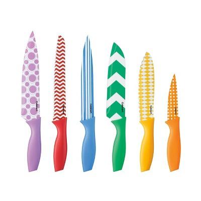 Cuisinart Advantage 12pc Non-Stick Coated Color Knife Set with Blade Guards - C55-12PR1