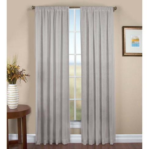 "Sheer Linen Single Window Curtain Panel w/ Rod Pocket, 52"" W x 96'' L - Plow & Hearth - image 1 of 2"
