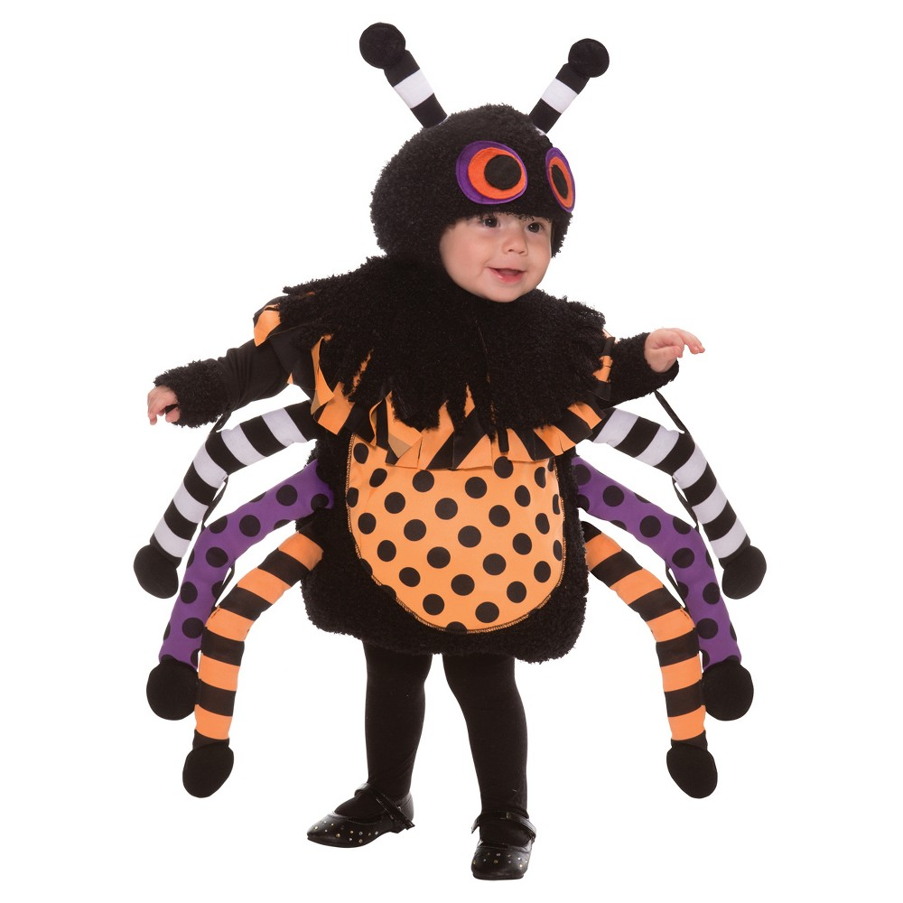 Image of Halloween Girls' Spider Toddler Costume 1-2t, Girl's, Size: 12-24M, MultiColored