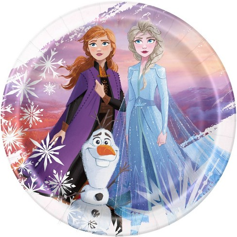 """Frozen 2 9"""" 8ct Party Paper Plates - image 1 of 3"""
