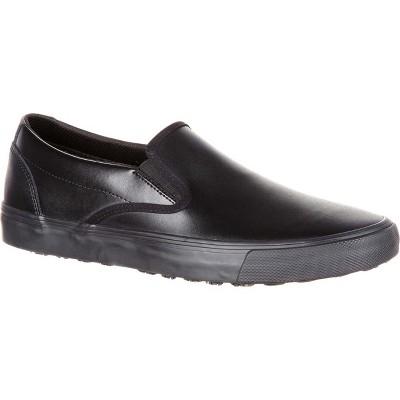 SlipGrips Women's Black Slip-Resistant Slip-On Skate Shoe