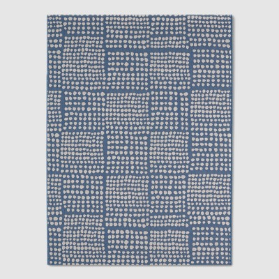 Dot Grid Outdoor Rug Blue - 7'x10' - Project 62™