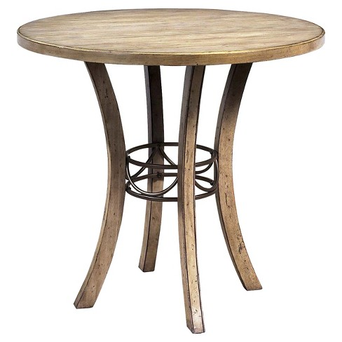 Charleston Counter Height Round Dining Table Tan Hilale Furniture Target