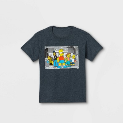 Boys' The Simpsons Short Sleeve Graphic T-Shirt - Gray