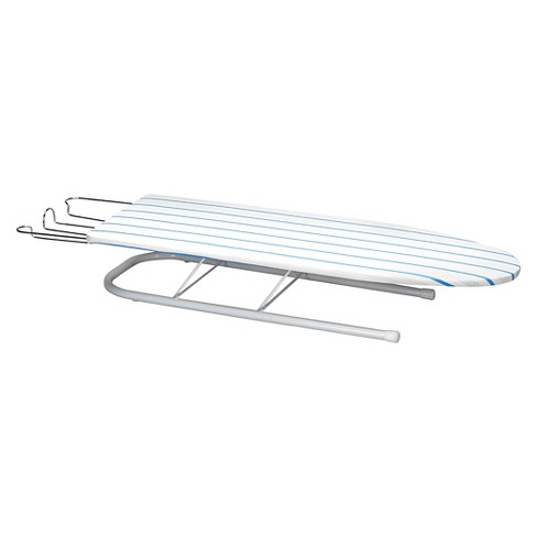 Household Essentials Deluxe Tabletop Ironing Board Compact Silver Natural Blue Target