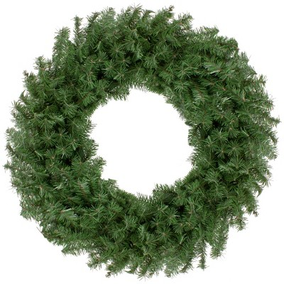 """Northlight 30"""" Unlit Canadian Pine Artificial Christmas Wreath"""