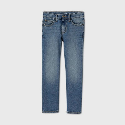 Boys' Stretch Straight Fit Jeans - Cat & Jack™ Medium Blue