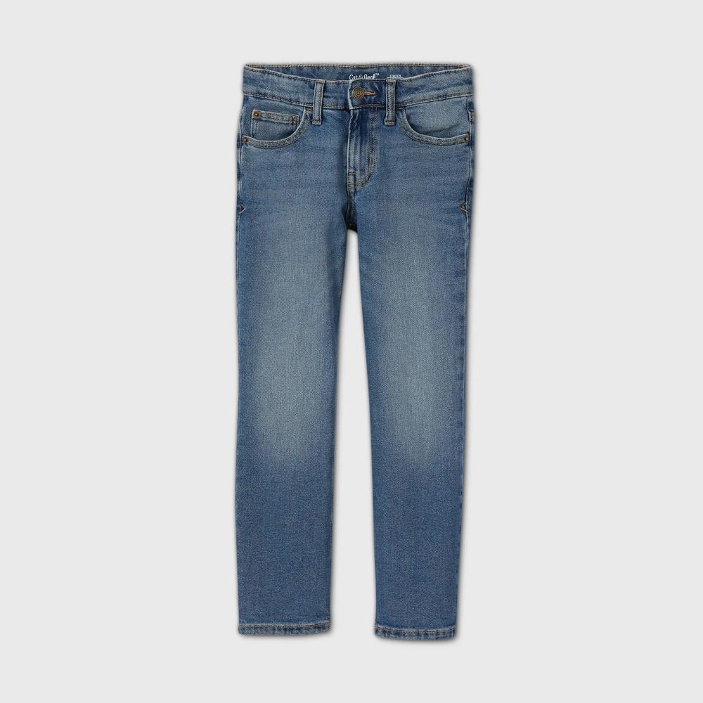Boys 39 Stretch Straight Fit Jeans Cat 38 Jack 8482 Medium Blue 16 Husky