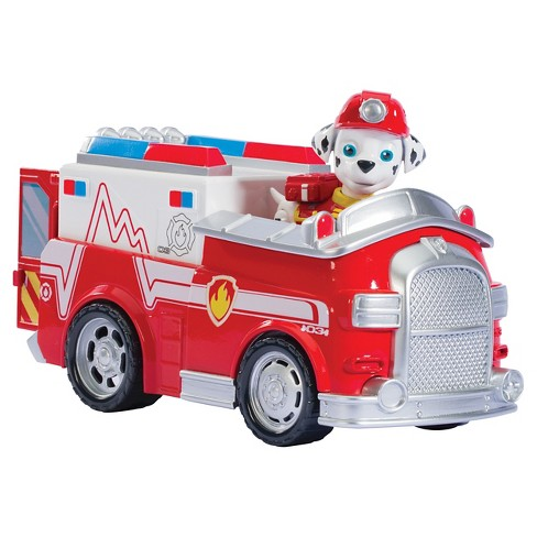 paw patrol marshall s firetruck vehicle and figure target