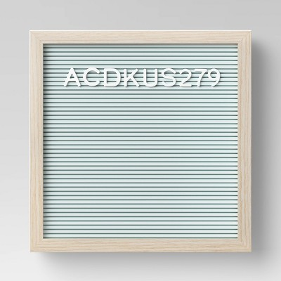 "12"" x 12"" Letterboard Mint - Room Essentials™"