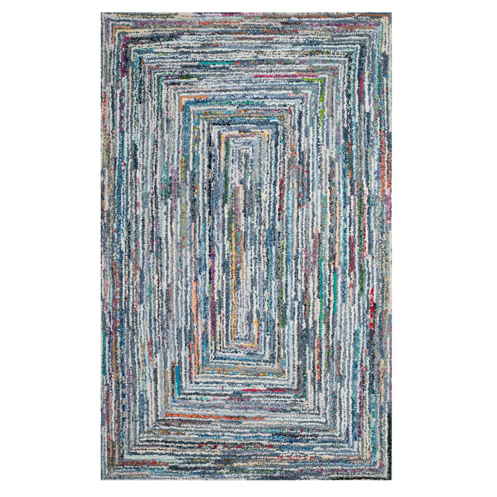 Swirl Tufted Area Rug 6'X9' - Safavieh, Multicolored