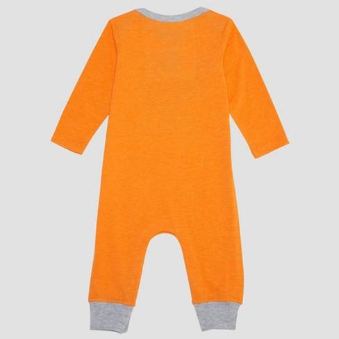 b52b9250e Baby Boys' Peanuts Snoopy Long Sleeve Romper - Orange : Target