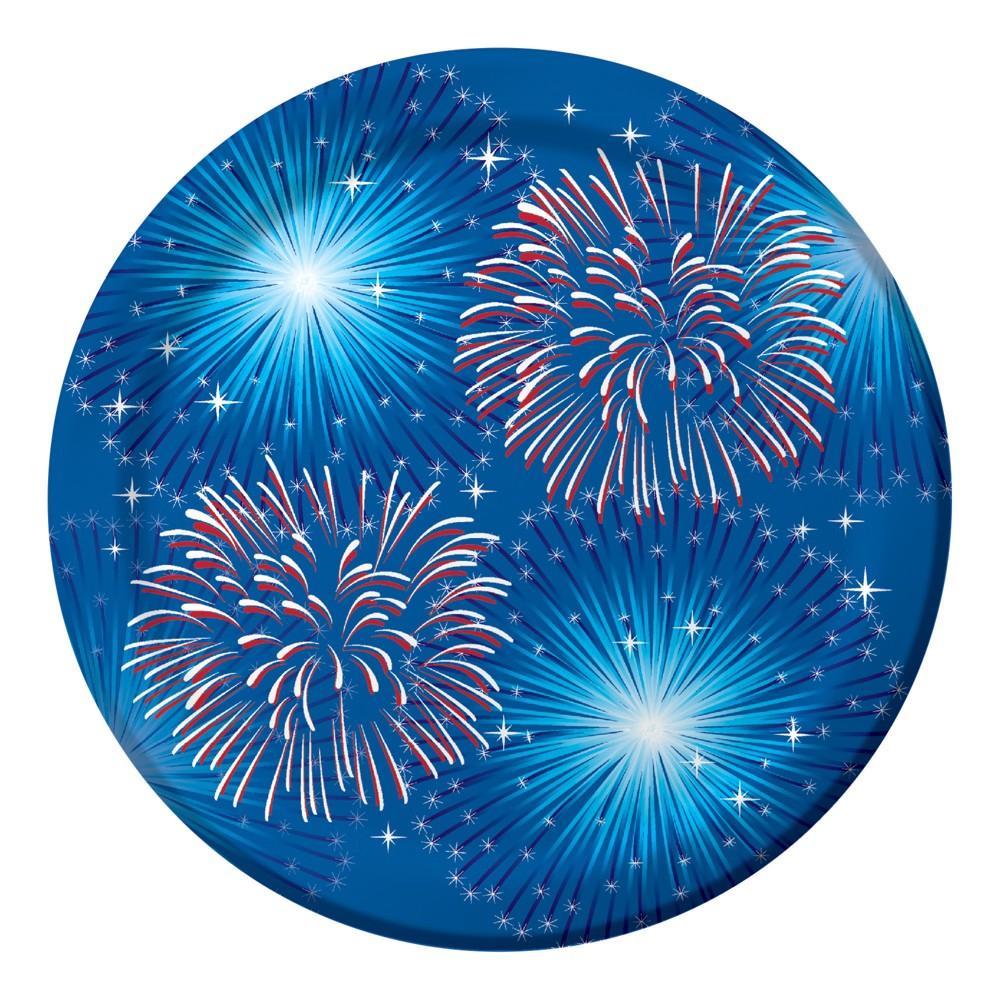 8ct Fireworks & Flags Dessert Plates